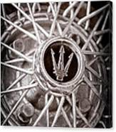 1972 Maserati Ghibli 4.9 Ss Spyder Wheel Emblem Canvas Print