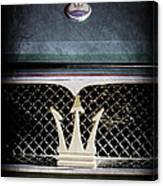 1972 Maserati Ghibli Grille - Hood Emblems Canvas Print