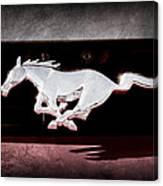 1994 Ford Mustang Corbra Custom Convertible Emblem Canvas Print