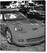 2010 Chevrolet Corvette Grand Sport Bw  Canvas Print