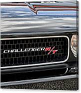 2011 Dodge Challenger Rt Black Canvas Print
