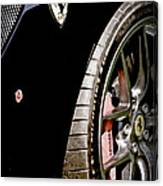 2011 Ferrari 599 Gto Emblem - Wheel Canvas Print