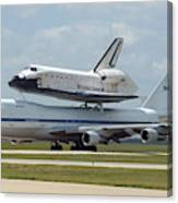 747 Carrying Space Shuttle Canvas Print
