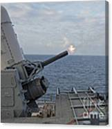A Close-in Weapons System Is Fired Canvas Print