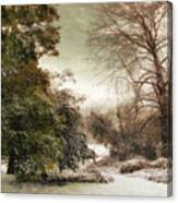A Dusting Of Snow Canvas Print