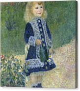 A Girl With A Watering Can Canvas Print