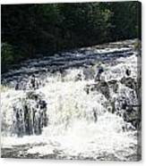 A Lovely View Of A Falls On Kayaderosseras Creek Canvas Print