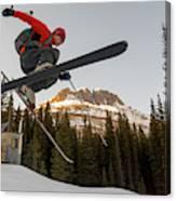A Man Jumping On His Skis, San Juan Canvas Print