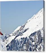 A Man Skis Untracked Powder Off-piste Canvas Print