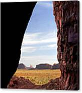 A Monument Valley View Canvas Print