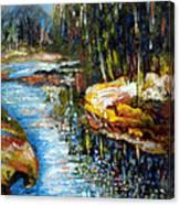 A Morning At River Bank Park Ny Canvas Print