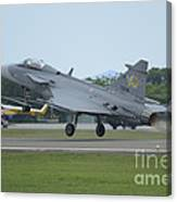 A Saab Jas 39 Gripen C Of The Royal Canvas Print