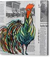 A Well Read Rooster Canvas Print