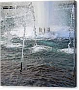 A World War Fountain Canvas Print