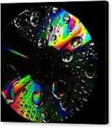 Abstract Rainbow Droplets On Cd Canvas Print