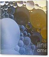 Abstraction Oil Bubbles In Water Canvas Print