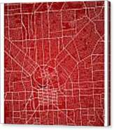 Adelaide Street Map - Adelaide Australia Road Map Art On Colored Canvas Print