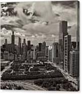 Aerial Chicago At Millennium Park Canvas Print