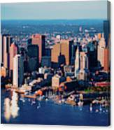 Aerial Morning View Of Boston Skyline Canvas Print