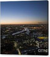 Aerial View Of Melbourne Canvas Print