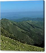 Aerial View Of Mountain Range Canvas Print