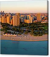 Aerial View Of North Avenue Beach Canvas Print