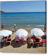Agia Marina Beach Canvas Print