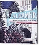 Alhambra Theatre Canvas Print