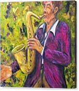All That Jazz, Saxophone Canvas Print