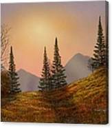 Alpine Sunset Canvas Print