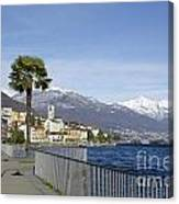 Alpine Village On The Lakefront Canvas Print