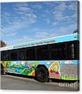 Ameren Missouri And Missouri Botanical Garden Metro Bus Canvas Print