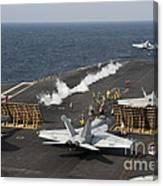 An Fa-18 Hornet Launches Canvas Print