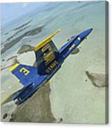 An Fa-18 Hornet Of The Blue Angels Canvas Print