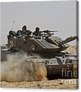 An Israel Defense Force Magach 7 Main Canvas Print