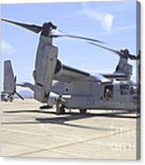 An Mv-22 Osprey Taxiing At Marine Corps Canvas Print