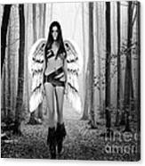 Angel In The Forest Canvas Print