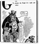 Anti-trust Cartoon, 1902 Canvas Print