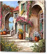 Archi E Fiori Canvas Print
