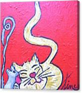 Art Cat Canvas Print