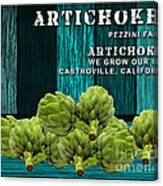 Artichokes Farm Canvas Print