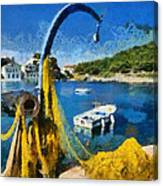 Asos Village In Kefallonia Island Canvas Print