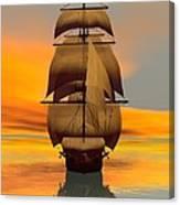 At Full Sail Canvas Print