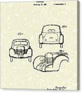 Automobile 1935 Patent Art Canvas Print