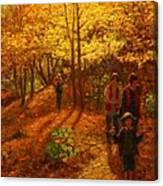 Autumn Bush Creek Track  Canvas Print