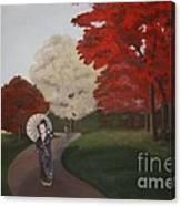 Autumn Geisha Canvas Print