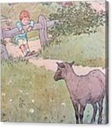 Baa Baa Black Sheep Canvas Print