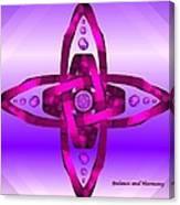 Balance And Harmony - Purple Canvas Print