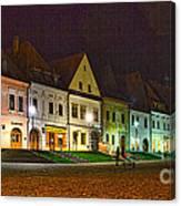 Bardejov At Night Canvas Print