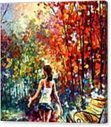 Barefooted Stroll Canvas Print